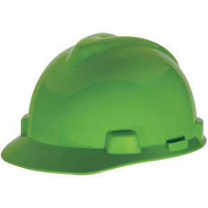 MSA 815565 Hard Hat Front Brim Slotted 4 Point Ratchet Lime Green | AA2CRT 10D940